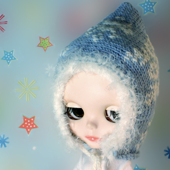 Blythe Knitting Patterns : In a Flurry knitted hat for Blythe   Blythe Today